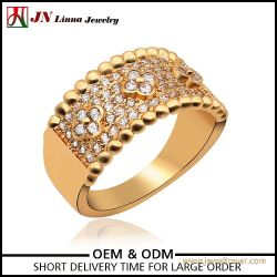 Copper finger Fashionable gold plated ring women jewelry