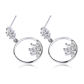 round silver drop earring designs for women