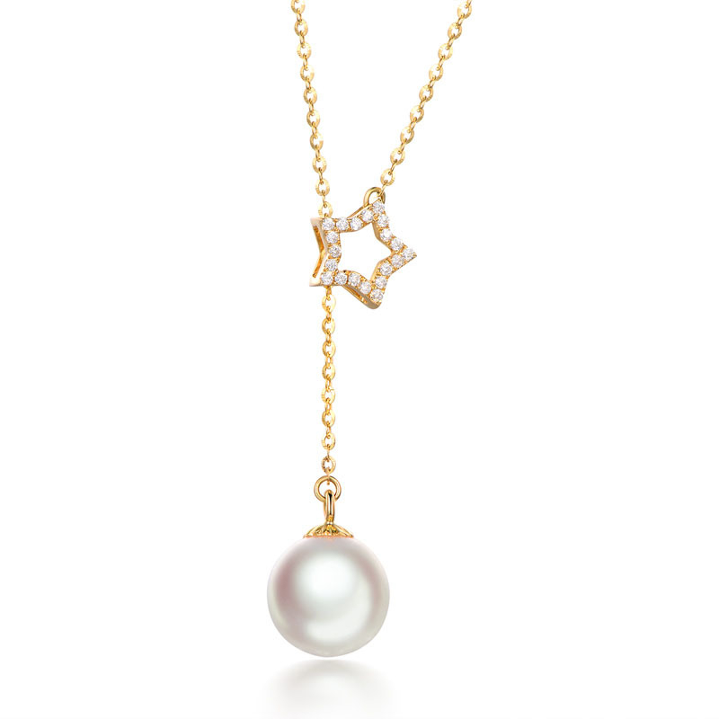 Pearl pendant silver necklace