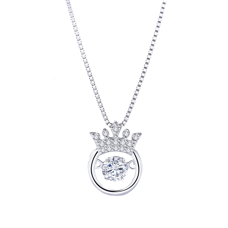 925 sterling silver crown pendant